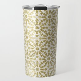 Hara Tiles Gold Travel Mug