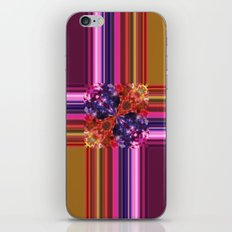 Purplish-Red and Gold Colorblock Abstract iPhone & iPod Skin