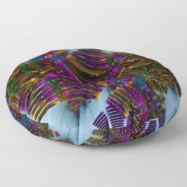 Abstract metallic Floor Pillow