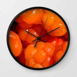 Cloudberry healthy wild berry Wall Clock
