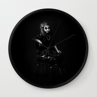 old school Wall Clocks featuring Old school by Pia Isaksen