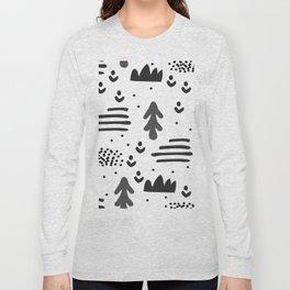 Sandinavian absract art Long Sleeve T-shirt