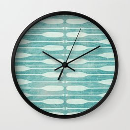 Vintage Coast Boat Paddles Wall Clock