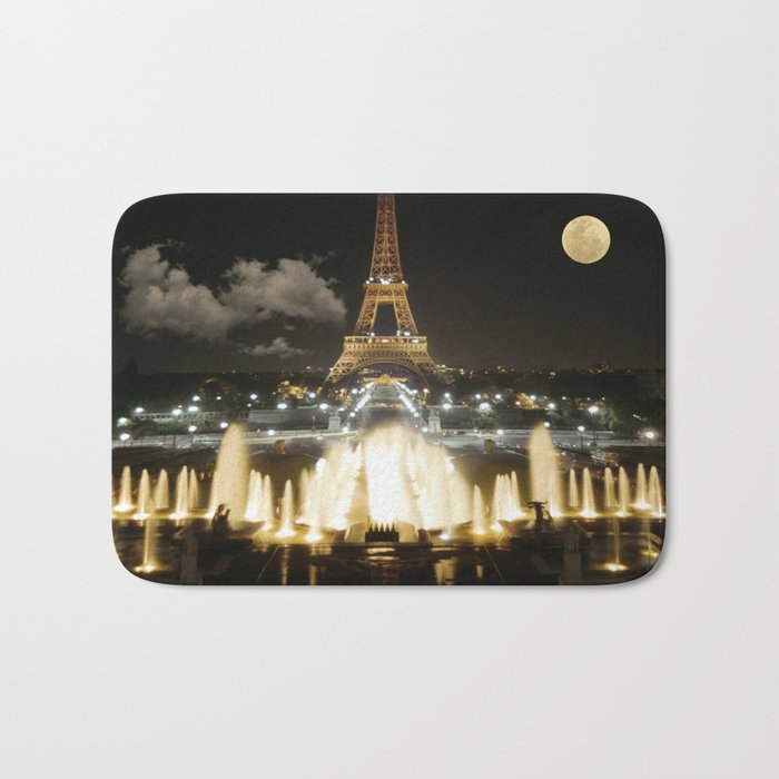 Eiffel Tower at Night Bath Mat