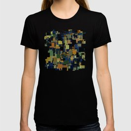 Random Abstract Shape Pattern T-shirt
