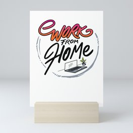 Work From Home Office Mini Art Print