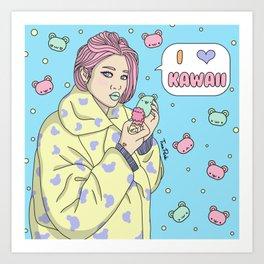 I Love Kawaii Art Print