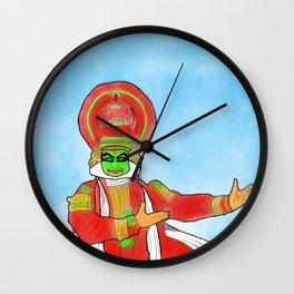 Kathakali Classical Dance Artform Kerala India Wall Clock