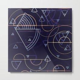 abstract geometrics Metal Print