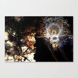 Vibrating Thought Affects the Physical Canvas Print