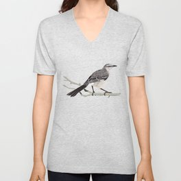 Northern mockingbird - Cenzontle - Mimus polyglottos Unisex V-Neck