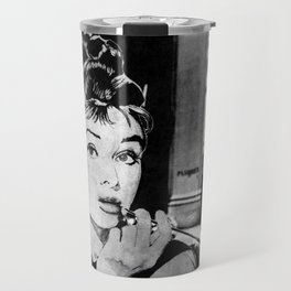 Miss Golightly - black Travel Mug