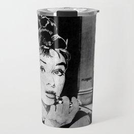 Miss Golightly - black Travel Mug