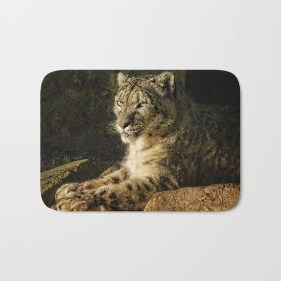Endangered Snow Leopard Bath Mat