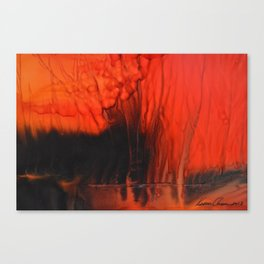 Red Sky On Fire Canvas Print