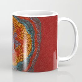 Growing - Lamium - plant cell embroidery Coffee Mug