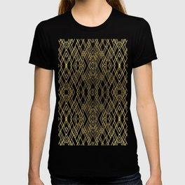 Art Deco Grey Gold T-shirt