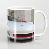 porsche Mugs featuring Porsche by Nick Nieu