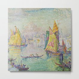 Lagoon of St. Mark's, Venice, Italy Landscape by Paul Signac Metal Print