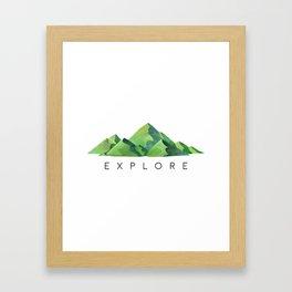 Explore, Travel Decor, Travel Printable, Printable Art, Typography Quote Framed Art Print