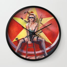 The Knife Thrower's Assistant Wall Clock