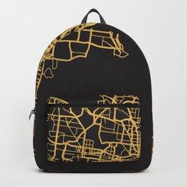 MELBOURNE AUSTRALIA GOLD ON BLACK CITY MAP Backpack