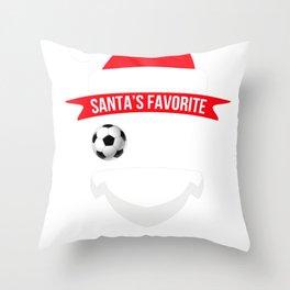 santafave coach soccer Throw Pillow