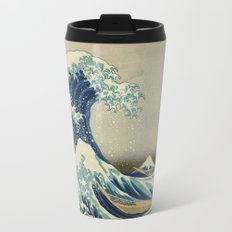 Great Wave Off Kanagawa Metal Travel Mug