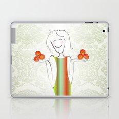 She brings tulips. Laptop & iPad Skin