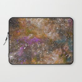 A galactic ocean -Orange- Cosmic Painting Art Laptop Sleeve