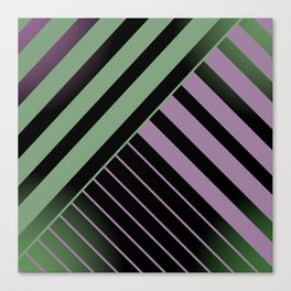 Diagonal Green and Violet Canvas Print