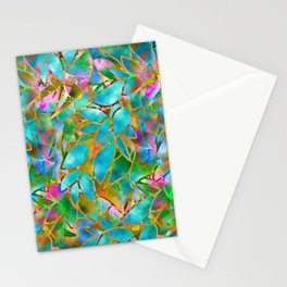 Floral Abstract Stained Glass G265 Stationery Cards