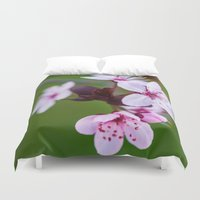 cherry blossom Duvet Covers featuring Cherry Blossom. by Michelle McConnell