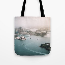 Sydney Opera House Harbour Bridge | Australia Aerial Travel Photography Tote Bag