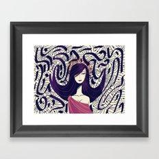 :::Dark Hair::: Framed Art Print