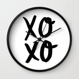 Xo Hugs & Kisses Wall Clock