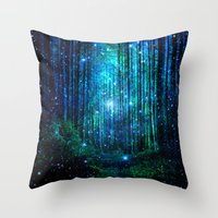 marianna Throw Pillows featuring magical path by haroulita