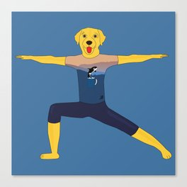 Warrior labrador Canvas Print