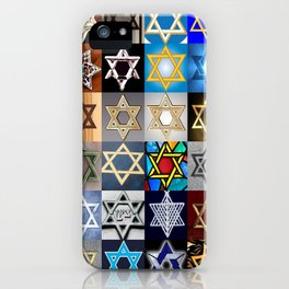 Star of David Montage iPhone Case