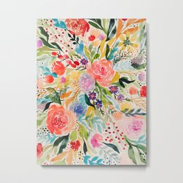 Flower Joy Metal Print