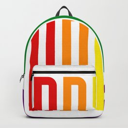 Pride! Colorful Rainbow Flag Colors LGBT Gay Pride Support Backpack