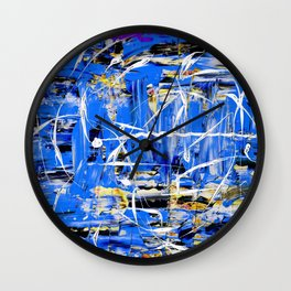 Abstract expressionism painting Wall Clock
