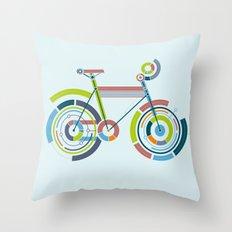 Bicyrcle Throw Pillow