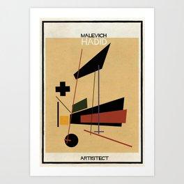 Malevich+HADID Art Print