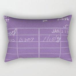 Library Card 797 Negative Purple Rectangular Pillow