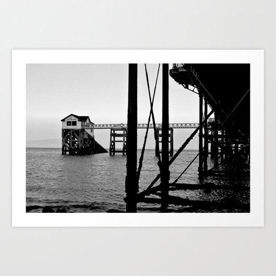 Pier B&W Art Print
