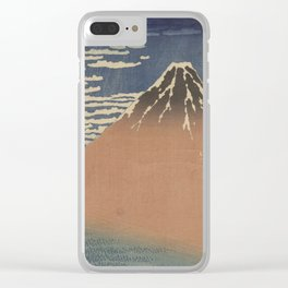 Clear weather and a southern wind - Katsushika Hokusai (1829-1833) Clear iPhone Case