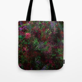 Purple Warfare - Abstract purple, pink, green and black abstract Tote Bag