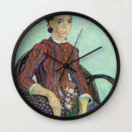 "Vincent van Gogh - La Mousmé ""Sitting in a Cane Chair"" (1888) Wall Clock"