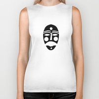 mask Biker Tanks featuring Mask by Hayley Wells